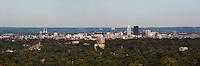 aerial photograph downtown Louisville, Kentucky skyline