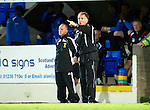 St Johnstone v Queen of the South...21.09.10  CIS Cup 3rd Round.Kenny Brannigan shouts.Picture by Graeme Hart..Copyright Perthshire Picture Agency.Tel: 01738 623350  Mobile: 07990 594431