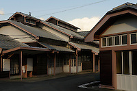 Factory buildings at Oriental Carpet Mills, Yamanobe-machi, Yamagata, Japan, April 11, 2016. Oriental Carpet Mills was founded in 1935 and produces luxury hand-woven and tufted carpets. Its carpets are used all over the world, including in the Vatican, the Imperial Palace in Tokyo and the Kabukiza Kabuki Theatre.