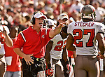 Buccaneer head coach Jon Gruden on Sunday, October 19, 2003, in San Francisco, California. The 49ers defeated the Buccaneers 24-7.