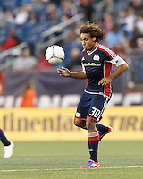 New England Revolution defender Kevin Alston (30) lines up volley pass. In a Major League Soccer (MLS) match, the New England Revolution tied the Columbus Crew, 0-0, at Gillette Stadium on June 16, 2012.