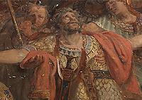 The martyrdom of St Maurice and his companions, detail, fresco, c. 1822, by Auguste Vinchon, 1789-1855, in the Chapelle de Sainte Jeanne d'Arc or the Chapel of St Joan Of Arc, in the church of Saint-Sulpice, built 1646-1870, in the 6th arrondissement of Paris, France. St Maurice was the leader of the legendary Roman Theban Legion in the 3rd century AD, a Christian legion who were executed and thus martyred by Maximian. Picture by Manuel Cohen