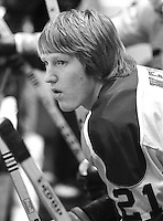 Seals Stan Weir ready to hit the ice. (photo Ron Riesterer)