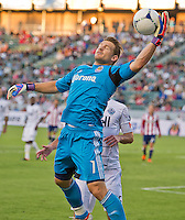 CARSON, CA - July 7, 2012: Chivas USA goalie Dan Kennedy (1) during the Chivas USA vs Vancouver Whitecaps FC match at the Home Depot Center in Carson, California. Final score Vancouver Whitecaps FC 0, Chivas USA 0.