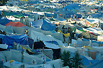 A camp for homeless families set up on a golf course in Port-au-Prince, Haiti, which was ravaged by a January 12 earthquake.