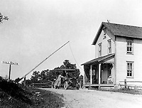Southwestern PA:  Brady Stewart traveled the National Road to visit his Uncle and Aunt (Brady's) near Cincinnati.  View of the Pennsylvania Ohio Turnpike toll booth on the National Road - 1906