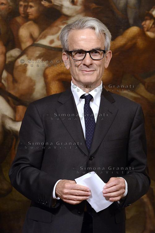 Roma, 3 Mag 2013.Giuramento a Palazzo Chigi dei Sottosegretari e Viceministri del Governo Letta..Paolo Fadda, Sottosegretario alla Salute