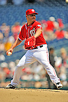29 May 2011: Washington Nationals pitcher Yunesky Maya on the mound against the San Diego Padres at Nationals Park in Washington, District of Columbia. The Padres defeated the Nationals 5-4 to take the rubber match of their 3-game series. Mandatory Credit: Ed Wolfstein Photo