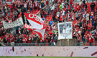The Toronto FC fans show their displeasure for Sporting KC forward Teal Bunbury #9 during an MLS game between Sporting Kansas City and the Toronto FC at BMO Field in Toronto on June 4, 2011..The game ended in a 0-0 draw...