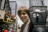 Manhattan, New York - May 5, 1983. Actress Linda Hunt walks through the streets of Midtown. She (born April 2, 1945) is an American film, stage and television actress, who won an Academy Award for her breakthrough role as Billy Kwan in the 1982 film 'The Year of Living Dangerously', and is best known for her role as Henrietta Lange in the CBS series NCIS: Los Angeles.