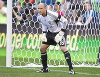 Seattle Sounders FC goalkeeper Kasey Keller during play between the Seattle Sounders FC and Manchester United at CenturyLink Field in Seattle Wednesday July 20, 2011. Manchester United won the match 7-0.