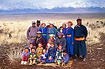 Nomad family, Gobi Altai Province, Mongolia