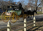 "Horse drawn Coach Colonial Williamsburg Virginia, Coach, carriage, Colonial Williamsburg Virginia is historic district 1699 to 1780 which made colonial Virgnia's Capital, for most of the 18th century Williamsburg was the center of government education and culture in Colony of Virginia, George Washington, Thomas Jefferson, Patrick Henry, James Monroe, James Madison, George Wythe, Peyton Randolph, and others molded democracy in the Commonwealth of Virginia and the United States, Motto of Colonial Williamsburg is ""The furture may learn from the past,"""