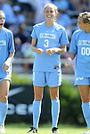 11 September 2011: North Carolina's Megan Brigman. The Texas A&M Aggies defeated the University of North Carolina Tar Heels 4-3 in overtime at Koskinen Stadium in Durham, North Carolina in an NCAA Division I Women's Soccer game.