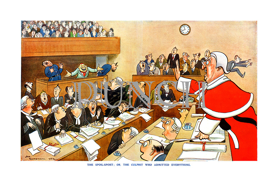 Punch cartoons by HM Bateman | PUNCH Magazine Cartoon Archive
