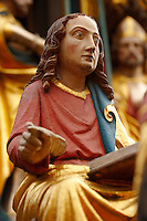 Close up of the Gothic statues of The Schroner Bruner fountain ( The beautiful fountain ), Nurnberg, Nuremberg - Germany