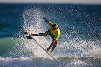 Josh Kerr (AUS).. Cottesloe Beach, Perth, Western Australia, Saturday August 18 2001..A round of  The Quiksilver Airshow International Series, with $20,000 in prize-money was run today at Cottesloe Beach. The Quiksilver Airshow is the richest and most spectacular surfing event to be staged at a Perth Beach. The contest is based around the futuristic moves of aerial surfing, where each surfer  is judged on their best two aerial manoeuvres in each heat. (Photo: joliphotos.com)