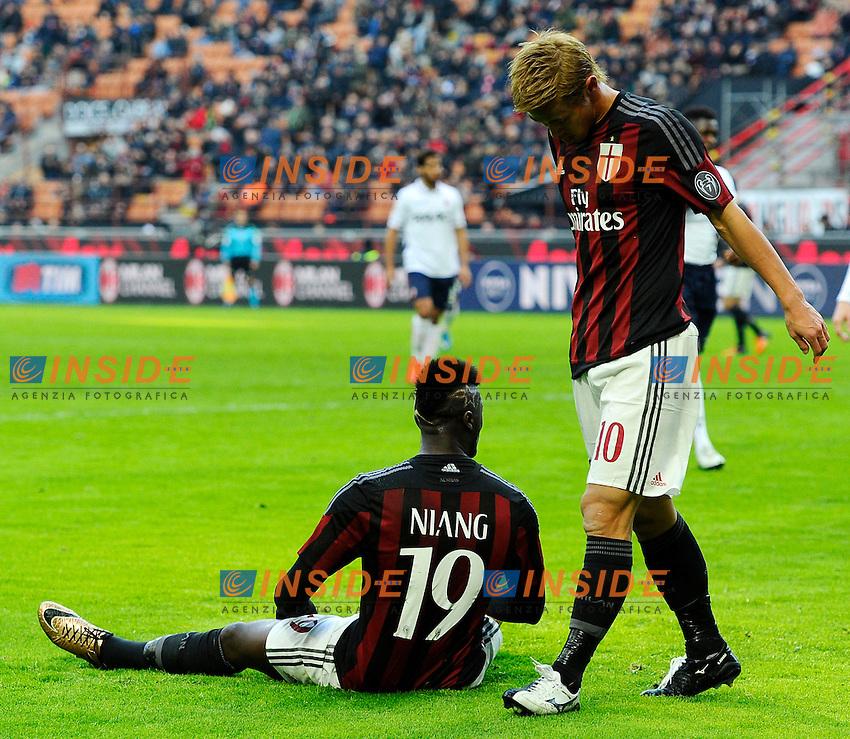 M'Baye Niang, Keisuke Honda Milan<br /> Milano 6-01-2016 Stadio Giuseppe Meazza - Football Calcio Serie A Milan - Bologna. Foto Giuseppe Celeste / Insidefoto