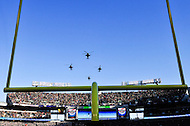 Baltimore, MD - DEC 10, 2016: Helicopters flyover before the  game between Army and Navy at M&T Bank Stadium, Baltimore, MD. (Photo by Phil Peters/Media Images International)