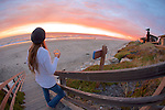 Katie Watching Sunset, Pajaro Dunes
