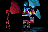 Blue Man Group educational show at Universal Studios Orlando