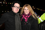 Keith with Martina Carrie at the Arrival of Santa and the turning on of the Christmas Lights in Dunleer...(Photo credit should read Jenny Matthews www.newsfile.ie)....This Picture has been sent you under the conditions enclosed by:.Newsfile Ltd..The Studio,.Millmount Abbey,.Drogheda,.Co Meath..Ireland..Tel: +353(0)41-9871240.Fax: +353(0)41-9871260.GSM: +353(0)86-2500958.email: pictures@newsfile.ie.www.newsfile.ie.