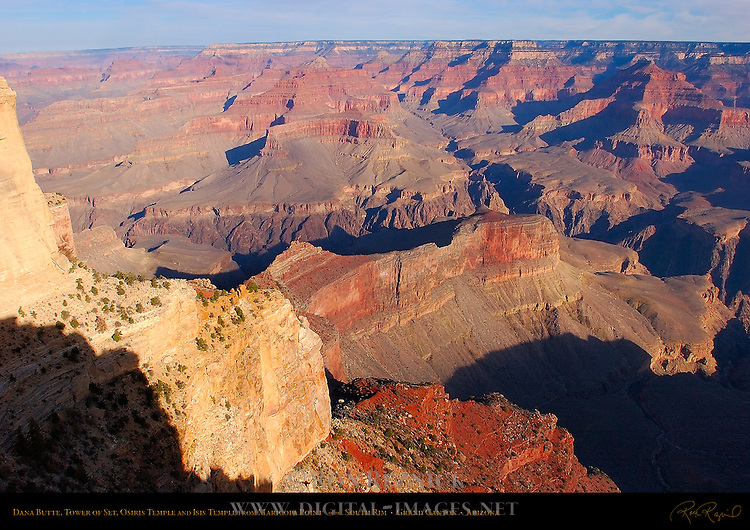 Dana Butte, Tower of Set, Osiris Temple and Isis Temple from Maricopa Point, South Rim, Grand Canyon, Arizona
