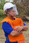 Aki Ra Observing Demining Operations