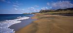 Kokope Beach. Hakepa and Kahuitara Points in background. Chatham Islands New Zealand.