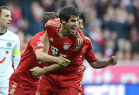 FUSSBALL   1. BUNDESLIGA  SAISON 2012/2013   13. Spieltag FC Bayern Muenchen - Hannover 96     24.11.2012 Jubel nach dem Tor zum 1:0 mit Javi , Javier Martinez (v. li., FC Bayern Muenchen)