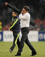 FUSSBALL   CHAMPIONS LEAGUE   SAISON 2011/2012     18.10.2011 SSC Neapel - FC Bayern Muenchen  Trainer Walter Mazzarri (SSC Neapel) enttaeuscht
