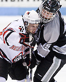 Tyler McNeely (NU - 94), Kyle MacKinnon (Providence - 15) - The Northeastern University Huskies defeated the Providence College Friars 3-1 (EN) on Tuesday, January 19, 2010, at Matthews Arena in Boston, Massachusetts.