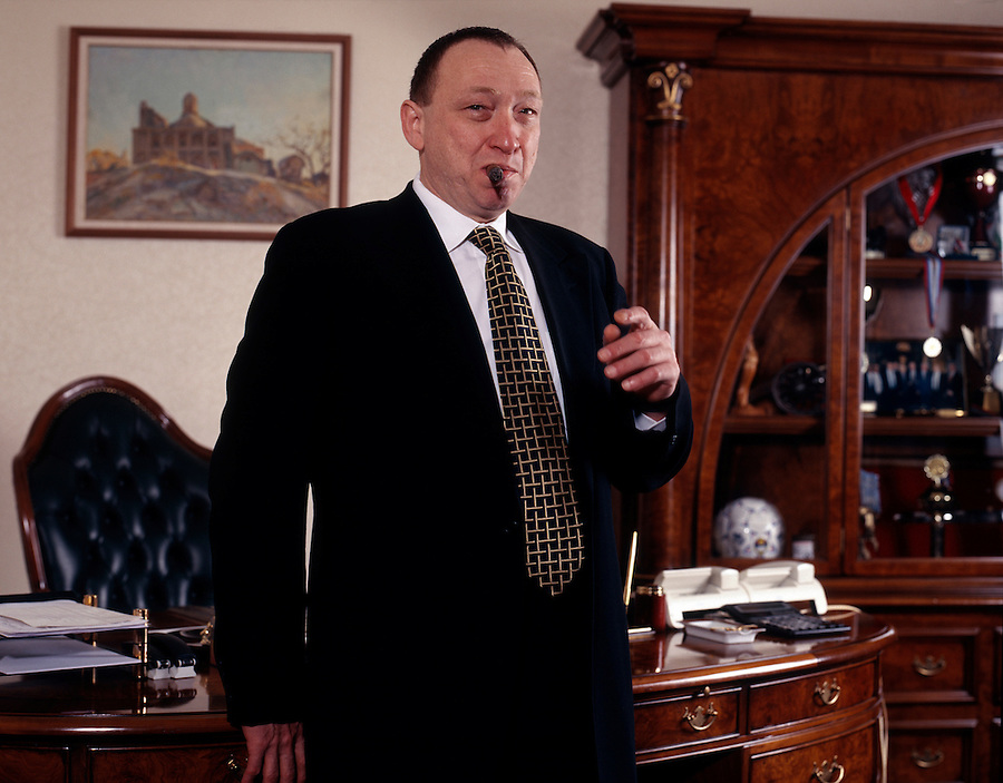 Moscow, Russia, December 1999..Aluminium mogul and business tycoon Lev Chernoy..
