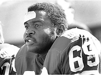 San Francisco 49er lineman Woody Peoples ...<br />(1969 photo/Ron Riesterer)