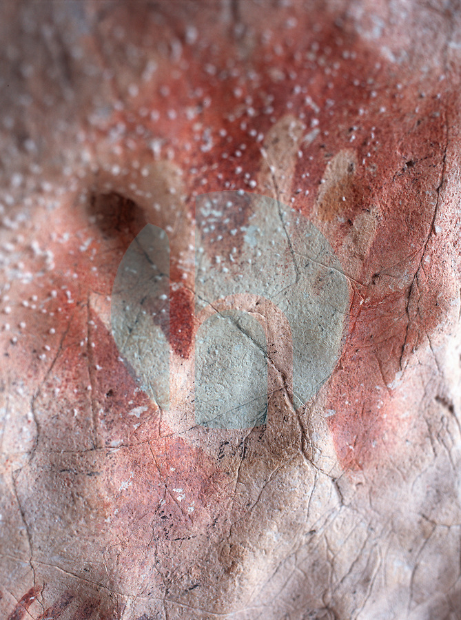 March 13th 2004-Tutuala, Timor-Leste- Estimated to be some 4,000 years old, this prehistoric hand print is seen in the Ile Kere Kere cave near the town of Tutuala in Lautem District.  Daniel J. Groshong/Tayo Photo Group