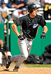 21 May 2007: Toronto Blue Jays outfielder Adam Calderone in action against the Baltimore Orioles at Doubleday Field during Baseball's Annual Hall of Fame Game in Cooperstown, NY. The Orioles defeated the Blue Jays 13-7 in front of a sellout crowd of 9,791 at the historical ballpark...Mandatory Credit: Ed Wolfstein Photo