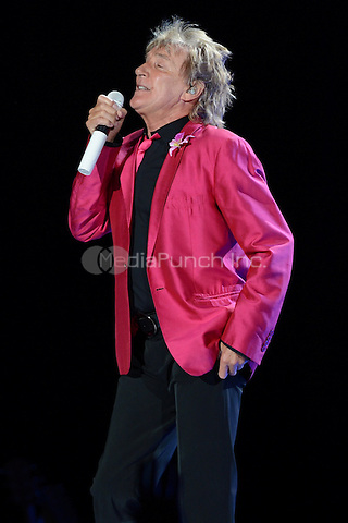 SUNRISE, FL - AUGUST 4 : Rod Stewart performs on the Heart & Soul tour at the BankAtlantic Center on August 4, 2012 in Sunrise Florida. ©mpi04/MediaPunch Inc