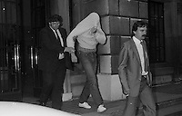 Pix: Copyright Anglia Press Agency/Archived via SWpix.com. The Bamber Killings. August 1985. Murders of Neville and June Bamber, daughter Sheila Caffell and her twin boys. Jeremy Bamber convicted of killings serving life...copyright photograph>>Anglia Press Agency>>07811 267 706>>..Jeremy Bamber leaves court. no date..ref 0002 neg 7...