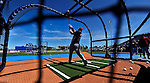 7 March 2010: Washington Nationals' catcher Derek Norris takes batting practice prior to a Spring Training game against the New York Mets at Tradition Field in Port St. Lucie, Florida. The Mets edged out the Nationals 6-5 in Grapefruit League pre-season play. Mandatory Credit: Ed Wolfstein Photo
