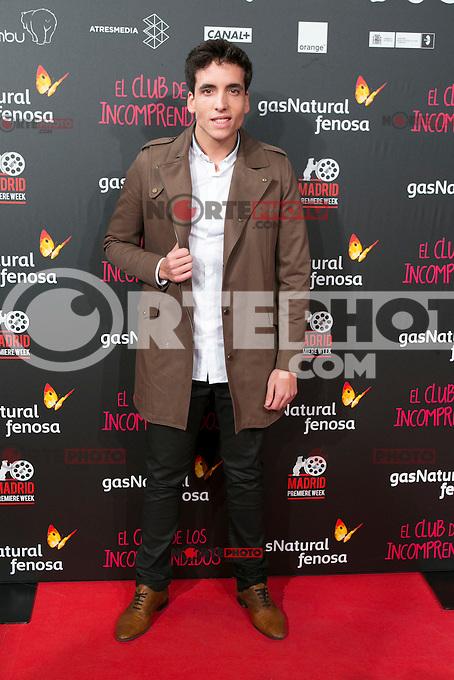 Xuso Jones attend the Premiere of the movie &quot;El club de los incomprendidos&quot; at callao Cinema in Madrid, Spain. December 1, 2014. (ALTERPHOTOS/Carlos Dafonte) /NortePhoto<br /> /NortePhoto