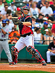 17 March 2009: Atlanta Braves' catcher David Ross in action during a Spring Training game against the New York Mets at Disney's Wide World of Sports in Orlando, Florida. The Braves defeated the Mets 5-1 in the Saint Patrick's Day Grapefruit League matchup. Mandatory Photo Credit: Ed Wolfstein Photo