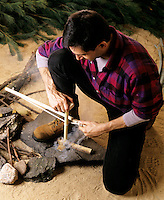 FIRE STARTED BY FRICTION<br />