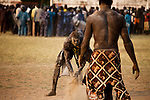 Wrestlers from different tribes compete during the finals in Juba. Wrestling was a common way for yount men to proove themselves before the war, but now the gun is the most popular way for youth to proove their manhood.
