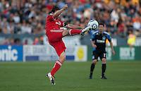 Nick Garcia kicks the ball. Toronto FC defeated the San Jose Earthquakes 3-1 at Buck Shaw Stadium in Santa Clara, California on May 29th, 2010.