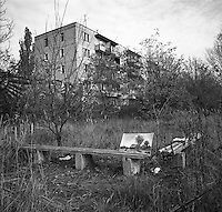 Chernobyl, Ukraine, Ocober 1995.&amp;#xD;The explosion at the Chernobyl Nuclear Power Plant on April 26 1986 was the worst nuclear accident in history.&amp;#xD;The city of Pripyat, within sight of the power plant, and formerly the home of Chernobyl staff and thousands of others, lies deserted.<br />