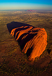 Aerial of Ayers Rock, Uluru-Kata Tjuta National Park, Australia