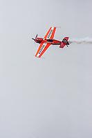Repsol plane make acrobacies between races