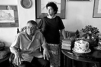 Royden and Linda Gibbs. at their home in Polhengoda. Royden is an artist.