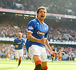 Nacho Novo celebrates as he scores Rangers second goal