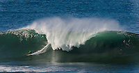 Half Moon Bay - Ca, Sunday, January 20, 2013:  Zach Wormhoudt competes during heat 3 of the Mavericks Invitational..